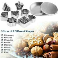 24pcs/Set Cake Stainless Steel Cookie Round Mold Baking Dough Biscuit AU Z3 R3S3