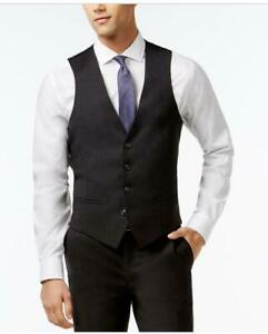 Bar III Charcoal Solid Extra Slim-Fit Vest size 44L