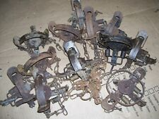 12- Vintage: Oneida Victor #1 1/2 coil spring traps/trapping ( lot 7)