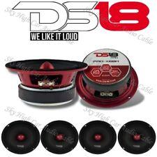 "4 - DS18 PRO X6BM 2000W Max 6.5"" Midrange Speakers Loudspeaker With Bullet 8 Ohm"