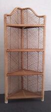 Wicker Corner Shelf Natural Color
