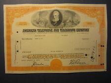 Old 1971 - American Telephone & Telegraph - ATT&T - Stock Certificate