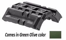 DPR Fab Defense - Polymer Green Dual Picatinny Rail Ideal for Flashlight & Laser