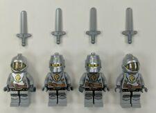 4 Lego Castle Minifgs King Knight Armor With Lion Head & Swords 70404 $$-rare-$$