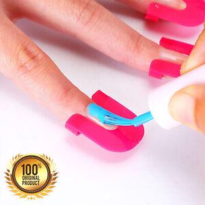 QUALITY Manicure Nail Gel Model Clip Edge Polish Glue Overflow Beauty Tool 26Pcs