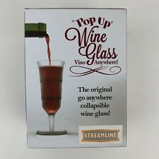 Blue Sky Studios Pop Up Wine Glass Collapsible Plastic Novelty Cup NEW