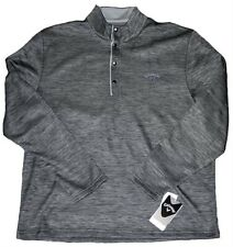 Callaway Opti-Therm 1/4 Button Down Long Sleeve Pullover Large Cavair Heather