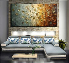 "MODERN ABSTRACT HUGE WALL ART OIL PAINTING ON CANVAS-Knife tree 48"" (no framed)"