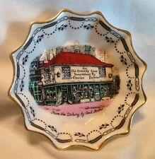 Vintage Dickens' Old Curiosity Shop England Rosina Bone China Ruffled Bowl Dish