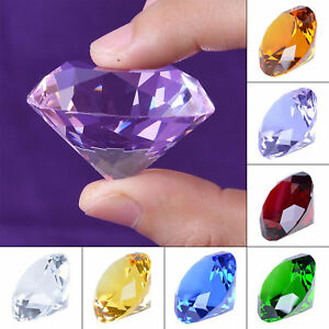 40mm Crystal Diamond Paperweight Decorative Ornament Wedding Gifts Keepsakes