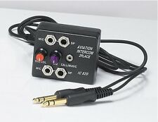 SkyLite AIC20 2 Users Aviation Pilots Aircraft Intercom  (Calls/Music)