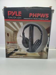 Pyle - PHPW5 - Professional 5 in 1 Wireless Headphone System, Built in Mic