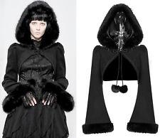Punk Rave chaqueta bolero Gothic nugoth Hood punta nugoth capucha Fake fur wly-079