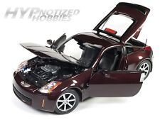 AUTO WORLD 1:18 2003 NISSAN 350Z DIE-CAST BURGUNDY AW240
