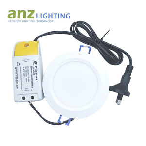 10 kits x 15W Dimmable Round Whit Frame LED Downlight Driver &Plug SAA Approval