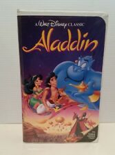 WALT DISNEY CLASSIC ALADDIN ANIMATED FILM  VHS VIDEO CASSETTE TAPE CLAMSHELL BOX