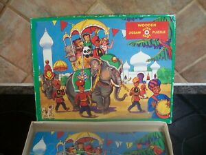 boxed high spot wooden jigsaw puzzle no 268 animals elephant trip