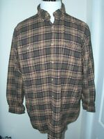MEN'S CARHARTT BROWN STRIPED BUTTON FRONT LONG SLEEVED BUTTON SHIRT L LARGE