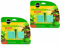 2 PACK Miracle-Gro 300157 Indoor Plant Food 48-Spikes, 2.2Oz Plant Fertilizer