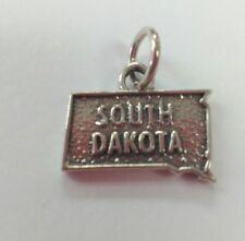 South Dakota Sterlng Silver Charm