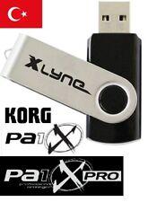 USB Türk Set Ritim Sesler Paket für Korg Pa1x Pax1 P A 1 X icin 128 tane