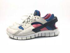 Nike Huarache Free Run White/Siren Red/Blue 510801-100 Mens Size 8