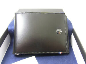 NEW S.T.Dupont Billfold 6 credit cards, Line D Leather 180001 Wallet Retail320$