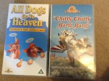 MGM VHS FILMS X 2 - Chitty Chitty Bang Bang and All Dogs Go to Heaven