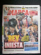 FC BARCELONA SEVILLA v MARCA 23.5.2016 FINAL COPA DEL REY. 2-0 REY INIESTA