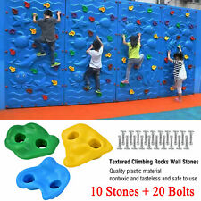 New 10 pcs Rock Climbing Holds Wall Stones and 20 Screws Indoor Outdoor for Kid