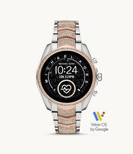 Michael Kors Bradshaw Gen 5 Pave Two Tone Touchscreen SmartWatch MKT5114 SEALED!