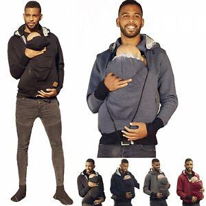 Zeta Ville Men's Kangaroo Hoodie Dad and Baby Carrier Coat Holder Pullover 1177