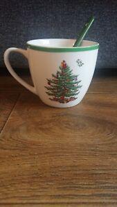 Spode Christmas tree Mug With Spoon