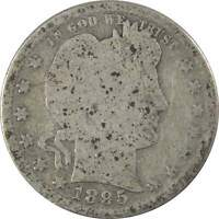 1895 S Barber Quarter G Good 90% Silver 25c US Type Coin Collectible