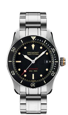 AUTHORIZED DEALER Bremont S300 BK/BR SUPERMARINE MEN'S AUTOMATIC Steel Watch