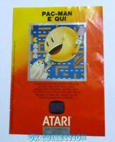 VECCHIO GADGET MINI LOCANDINA PUBBLICITARIA 1982 PAC-MAN ATARI old advertising