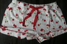 Victoria secret pink sleep Shorts new xs white/red cherries