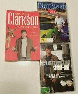 Jeremy Clarkson Book & DVDs Bundle On Cars Paperback Duel Shoot-Out Top Gear