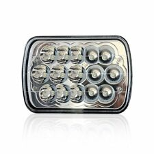 """7""""X6'' 15LED HID Bulb Crystal Clear Sealed High/Low Beam Headlight For Car Jeep"""