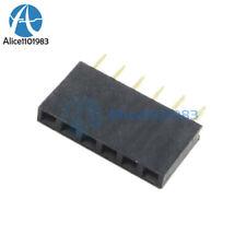 100PCS 6Pin Single Row Header Socket Connector 2.54MM Pitch