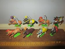 c.1970s 1/32 Britains Deetail .8 Knights Horses + 4 Mounted Knights (16