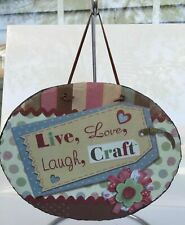 Live Love Laugh Plaque Wall Art Decor Motivational Inspirational Craft Quote