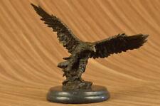Bronze Falcon Tall on Marble Base Modernist Modern Art Decor Sculpture Statue