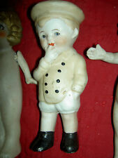 Precious, antique vintage, all bisque soldier boy doll with beautiful details