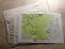 11 1960s Vintage Asia Asian Military WWI WWII Army Corps War AMS Map Service Lot