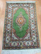 """3' x 4'6"""" Antique Turkish Oriental Rug - 1920s - Hand Made - 100% Silk"""