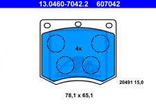 Bremsbelagsatz, Scheibenbremse für Bremsanlage Vorderachse ATE 13.0460-7042.2