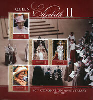 Grenada Royalty Stamps 2013 MNH Coronation Queen Elizabeth II 60th Ann 4v M/S I
