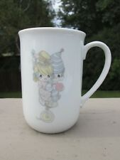 Vintage Precious Moments: Coffee/Mug Porcelain, Two Clowns on unicycle, 1984