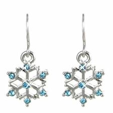 Rhodium Plated Drop/Dangle Round Costume Earrings
